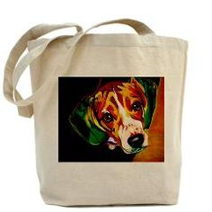 Beagle Tote Bag with DawgArt by Alicia VanNoy Call