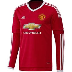 adidas Manchester United Long Sleeve Home Jersey 15/16