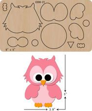 New OWL Wooden die Scrapbooking Cutting Dies - New OWL Wooden die Scrapbooking Cutting Dies Effektive Bilder, die wir über diy crafts a - Owl Crafts, Diy And Crafts, Crafts For Kids, Paper Crafts, Felt Animal Patterns, Stuffed Animal Patterns, Album Diy, Pastel Pattern, Applique Patterns