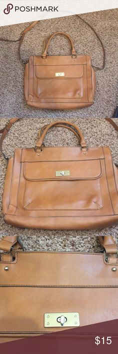 Merona Leather Bag Brown leather bag used once or twice No signs of wear  Hand and shoulder handles Merona Bags Shoulder Bags