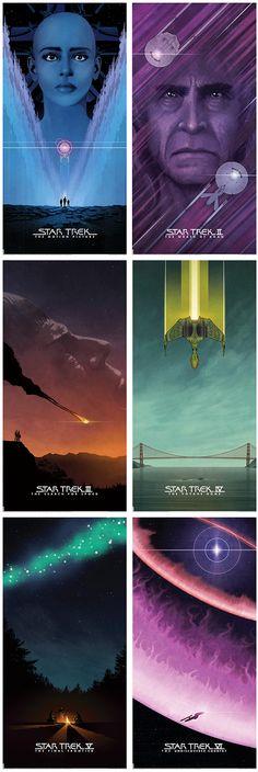 Beautiful Star Trek Movie Posters by Matt Ferguson BYE BYE ROBOT