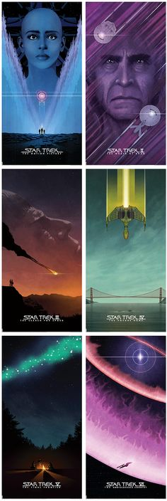 Beautiful Star Trek Movie Posters by Matt Ferguson << I want these!