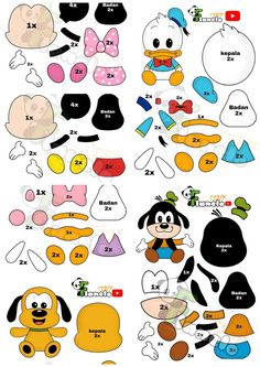 Felt Crafts Patterns, Felt Crafts Diy, Farm Crafts, Doll Crafts, Diy Doll, Sewing Crafts, Sewing Projects, Disney Diy, Disney Crafts