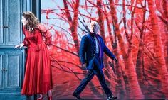 Nicole Car as Tatyana with Dmitri Hvorostovsky as Onegin at the Royal Opera House.
