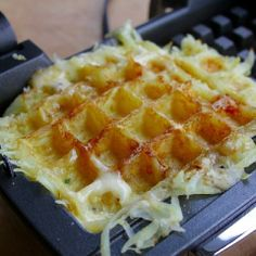 """""""Grated potatoes + cheese = The Waffclette. #CDNCheese #SimplePleasures"""" - David Ort"""