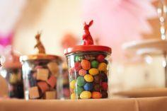 deco majenia - pot confiture + figurines animaux