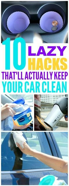 These car cleaning hacks are pretty easy! I'm glad I found these cleaning and organization tips! Now I have great ways to keep my car clean and tidy and easy DIY ideas! #cleaninghacks #organizationhacks #cleaningtips #organizationtips #organizationideas #DIY #DIYideas #DIYprojects