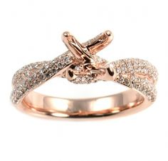 Sofia Bridal Collection -  #Diamond Rose Gold #Engagement ring setting