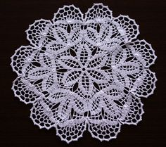New Hand Cocheted Doily 14 by Illiana on Etsy