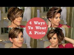 How To Style A Pixie 4 Ways - YouTube
