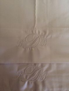 White on white pillow cases! Betty & Babes Embroidery