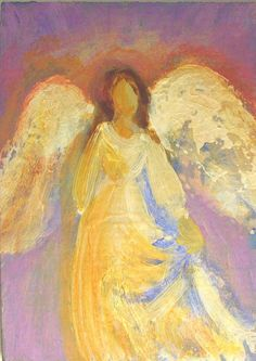 Healing Angel Painting Original ACEO miniature acrylic