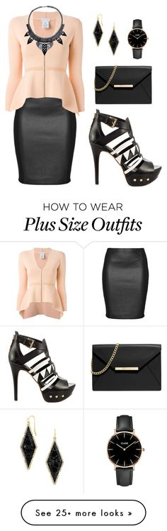 """Black+Peach"" by aowens99 on Polyvore featuring Zhenzi, Scanlan Theodore, GUESS, MICHAEL Michael Kors, BaubleBar and CLUSE"
