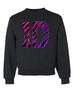 One Direction 1D Zebra Stripes Crewneck Sweatshirt