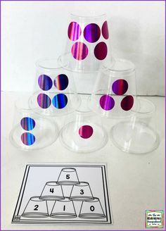 Subitizing Cards And Cups Subitizing Cards And Cups This Higher Order Math Game Brings Together Subitizing Cards And Stacking Cups For A Stem Challenge Involving Numbers And Counting Subitizing Cards And Cups The Kindergarten Smorgasboard Kindergarten Smorgasboard, Kindergarten Classroom, Kindergarten Activities, Number Sense Kindergarten, Classroom Decor, Subitizing Activities, Number Sense Activities, Leadership Activities, Kindergarten Math Activities