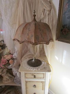 Your place to buy and sell all things handmade Live In Style, Folding Umbrella, Fru Fru, Umbrellas Parasols, Lamp Shades, Vintage Decor, Buy And Sell, Antiques, Romantic