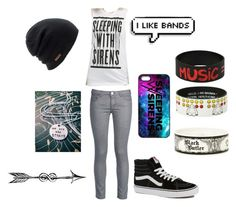 """""""Sleeping with Sirens"""" by punk-rock-lily ❤ liked on Polyvore featuring George J. Love, Vans, Coal, Disney and Sebastian Professional"""