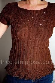 blusa tricot manga raglan receita - Pesquisa Google