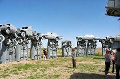 9 Fake Stonehenge Sites (Almost) as Cool as the Original: Carhenge, Nebraska. Photo by Luke Jones