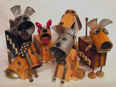 Junkyard Dogs #upcycled tin cans
