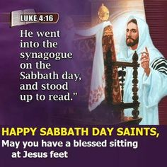 Happy Sabbath - Luke 4:17