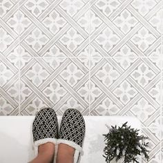 Forget the selfie this year is all about the shoefieWe love seeing our Mr Jones Tiles take centre stage in your homes Keep tagging us in your pictures britishceramictile Laura Ashley Mr Jones Tiles, Small Toilet Room, Small Front Gardens, Tiled Hallway, Hallway Inspiration, Downstairs Toilet, Home Reno, Floor Design, Tile Patterns