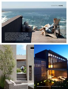 Large scale, contemporary holiday home - Pezula Estate, Knysna. By Architects Outdoor Furniture Design, Knysna, Coastal Homes, Sun Lounger, Architects, Scale, Contemporary, Outdoor Decor, Holiday