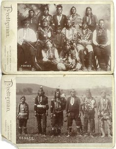 Unidentified Osage men.  No date or additional information re: this photo.