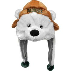 Forever Collectables NFL Mascot Dangle Hat, Green Bay Packers
