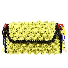 M Missoni Bags featuring polyvore fashion bags handbags verde yellow handbag yellow bag yellow purse m missoni m missoni handbags