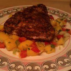 Blackened Tuna Steaks with Mango Salsa Allrecipes.com