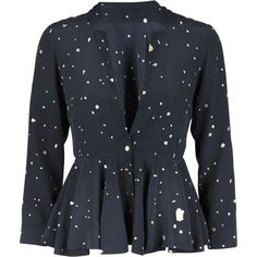 d9755437fbdc Buy the Jacky Jacket in the Dream print with Gold Dots and a peplum skirt  from Stine Goya. The printed Peplum Jacket has always been a true Goya  classic!