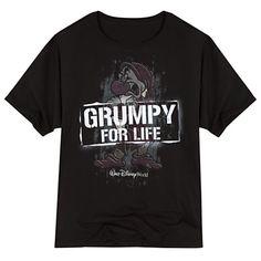 Grumpy for Life Walt Disney World Tee for Adults   Tees, Tops & Shirts   Disney Store