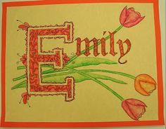 ABC School Art: Medieval Name Design - (6th)