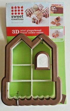 New Sweet Creations 3D Mini Gingerbread Candy Land House Cookie Cutter USA Sell #Bradshaw