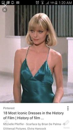 Michelle Pfeiffer - Scarface by Brian De Palma - & Universal Pictures Elvira Hancock, Scarface Costume, Michelle Pfeiffer Scarface, 1990 Style, Actrices Hollywood, Iconic Movies, Looks Style, American Actress, Love Fashion