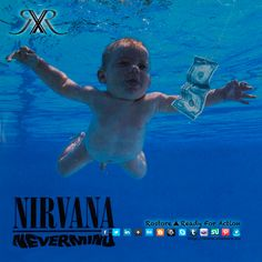 """Boa noite gente!!! Quem se lembra da capa do album dos Nirvana, lançado em 1991, com o nome """"Nevermind""""? A maioria de vocês vai lembrar da capa desse álbum com um bebê nu debaixo da água, nadando em direção a uma nota de um dólar. Ja se passaram duas décadas e o bebé, Spencer Elden, ja tem mais de 20 anos. https://www.facebook.com/rostore.shop/posts/720309431357365 (Roupa de bebê disponível na Rostore: http://www.rostore.eu/pt/28-kids )"""