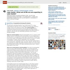 Quora Response - Website 'http://www.quora.com/Lake-Vostok/What-sort-of-life-are-we-expecting-in-Lake-Vostok' snapped on Snapito!
