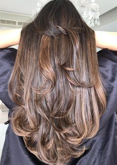 Chocolate Brown Hair Color, Brown Hair Colors, Long Wavy Hair, Super Long Hair, Brunette To Blonde, Beautiful Long Hair, Brunettes, Blondes, Hair Goals