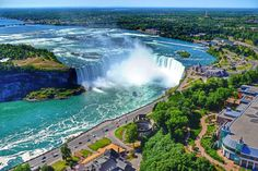 Photograph Horseshoe Falls - Niagara Falls by Anderson Spinelli on Great Pictures, Niagara Falls, Places To Go, Waterfall, Beautiful Places, Canada, The Incredibles, Explore, World