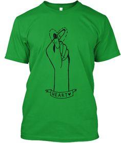 Heart Kelly Green T-Shirt Front