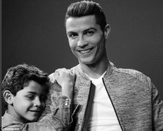 'Perfect couple': Cristiano posted a picture with his son to Instagram recently where both looked similar - it was cheekily captioned 'perfect couple' with a couple of love heart emojis