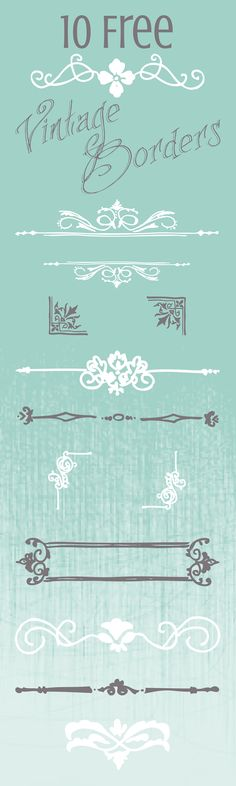 We Lived Happily Ever After: 10 Free Vintage Border Graphics for your Printables & Digital Designs Dated Jan 2014 Vintage Borders, Doodles, Free Graphics, Graphics Vintage, Cool Fonts, Fun Fonts, Chalkboard Art, Smash Book, Clipart