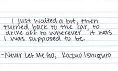 Kazuo Ishiguro (Never Let Me Go)