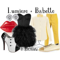 Lumiere + Babette, created by lalakay on Polyvore