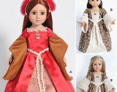Zeit 18 Puppe Kleidung Muster für die Robe À la von CARPATINA