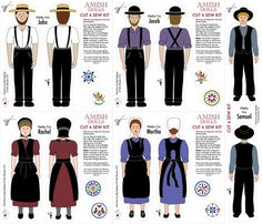Amish_cut_and_sew fabric by peppermintpatty on Spoonflower - custom fabric Amish Dolls, Amish Barns, Dolly World, Amish Culture, Sewing Stuffed Animals, Amish Quilts, Modest Outfits, Modest Clothing, Miniature Christmas