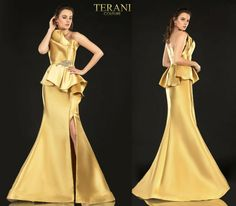 TERANI COUTURE 2021E2833 authentic dress. FREE FEDEX. BEST PRICE   eBay Terani Couture, Strapless Gown, Prom Dresses, Formal Dresses, Peplum, Gowns, Free, Ebay, Fashion