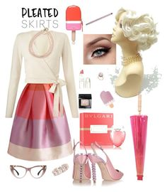 """""""Untitled #164"""" by lmello on Polyvore featuring Chicwish, Bulgari, TheBalm, Kate Spade, Miss Selfridge, Sophia Webster, Blue Nile, Carolee, Gucci and Bobbi Brown Cosmetics"""