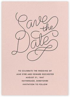 Bobbin - Save The Date (Meringue) - Paperless Post